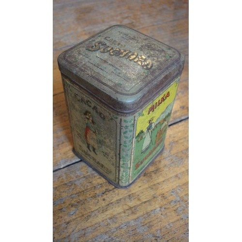 Ancienne boite metal tole cacao suchard 250g ca 1910 - Boite metal ancienne ...