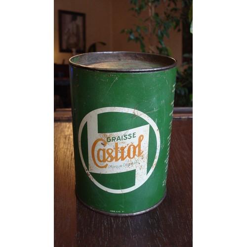 Ancienne boite metal tole graisse castrol castrolease 1 kl ca 1950 french castrol grease tin - Boite metal ancienne ...