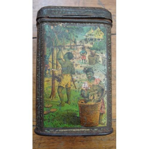 Ancienne boite metal tole lithographi e cacao bensdorp ca 1920 - Boite metal ancienne ...
