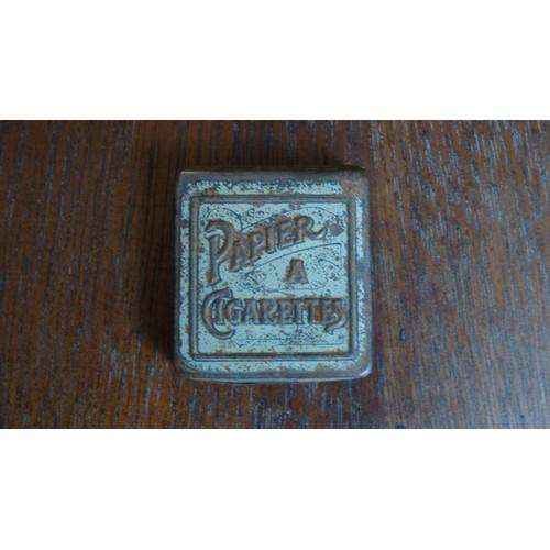 Ancienne boite metal tole papier cigarettes zed ca 1920 - Boite metal ancienne ...