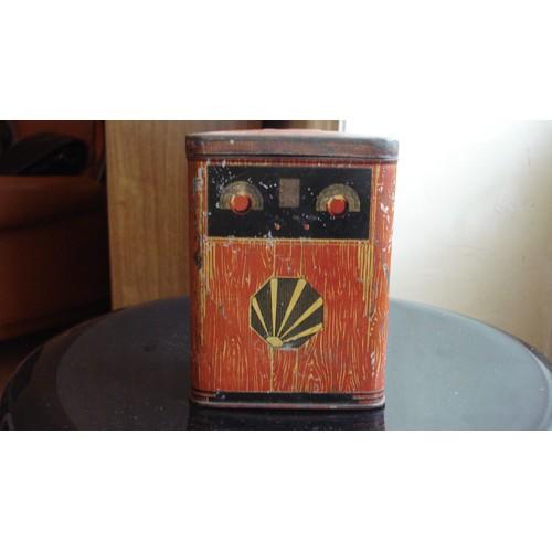 Ancienne boite tirelire metal tole paris toff es paris gourmand imitation poste radio tsf des - Boite metal ancienne ...