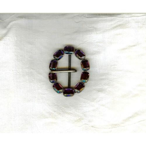 ancienne-boucle-de-ceinture-10 -cabochons-verre-taille-couleur-amethyste-sertis-de-metal-ab-france-5-8cm-x-4-8-cm-1003743070 L.jpg 863ce5f29be