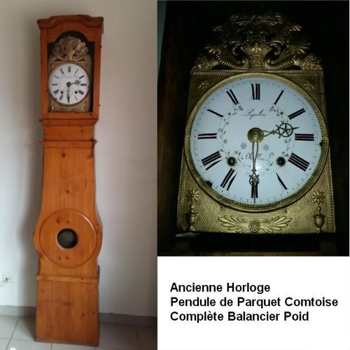 ancienne horloge pendule comtoise de parquet neuf et d 39 occasion. Black Bedroom Furniture Sets. Home Design Ideas