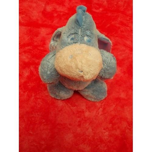 Ane Walt Disney : Âne doudou peluche bourriquet bleu museau rose nicotoy