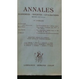 Annales. Economies, Soci�t�s, Civilisation Oct/Dec 1954 N� 4
