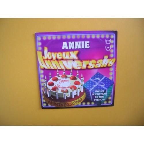 Annie Joyeux Anniversaire R Patline A Sensor Cd Single