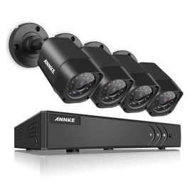 annke kit cam ra de surveillance ext rieur filaire 8ch dvr enregistreur 4cam ra sans disque dur. Black Bedroom Furniture Sets. Home Design Ideas