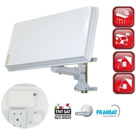 antenne plate satellite 1 tv parabole discr te compatible hd. Black Bedroom Furniture Sets. Home Design Ideas