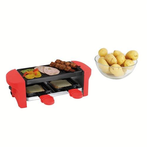 appareil raclette rouge 2 personnes doc156r achat et vente. Black Bedroom Furniture Sets. Home Design Ideas