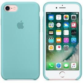 APPLE - Coque en silicone Apple pour iPhone 7 ET 8 Bleu Méditerranée