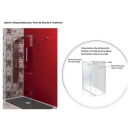 aqua barre de fixation murale simple pour paroi de douche l 39 italienne. Black Bedroom Furniture Sets. Home Design Ideas