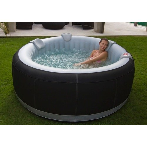 aqua spa 4 places rond gonflable noir pas cher achat vente rakuten. Black Bedroom Furniture Sets. Home Design Ideas