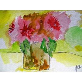 Aquarelle bouquet fleurs watercolour cot drouot for Aquarelle livraison fleurs