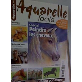 Aquarelle facile n 29 chevaux achat vente neuf occasion for Aquarelle facile