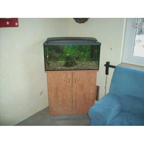 Aquarium 112 litres 40 x 80 x 35 cm avec meuble for Meuble aquarium 100 x 40