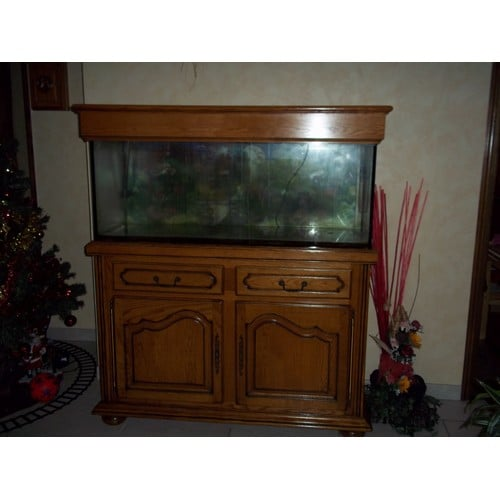 aquarium meuble en chene pompe decors pas cher. Black Bedroom Furniture Sets. Home Design Ideas