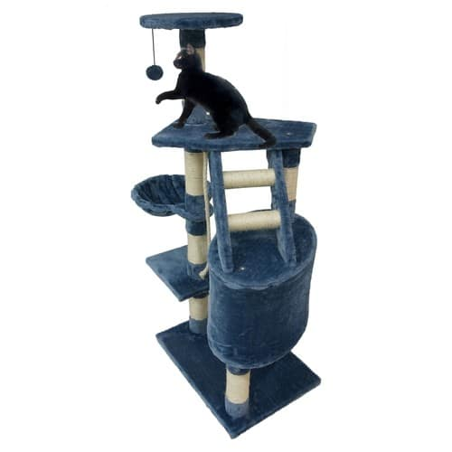 arbre chat bleu griffoir pour chat avec tour en sisal. Black Bedroom Furniture Sets. Home Design Ideas