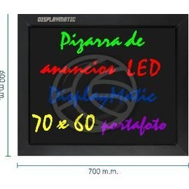 ardoise lumineuse led display board 70 x 60 cm cadre photo pas cher. Black Bedroom Furniture Sets. Home Design Ideas