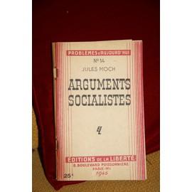 Arguments Socialistes 14 -Jules Moch -Probl�me D Aujourd Hui