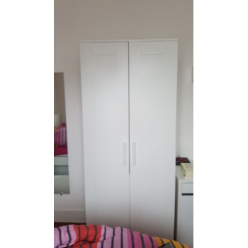 armoire brimnes blanche 2 portes achat vente de mobilier rakuten. Black Bedroom Furniture Sets. Home Design Ideas