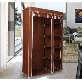 armoire en tissu penderie meuble de rangement. Black Bedroom Furniture Sets. Home Design Ideas