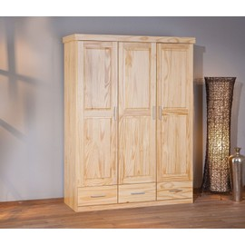 armoire penderie dressing rangement chambre vintage porte tiroir bois pin massif. Black Bedroom Furniture Sets. Home Design Ideas