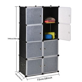 armoire meuble de rangement modulable diy 8 cubes. Black Bedroom Furniture Sets. Home Design Ideas
