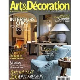 Art d coration 483 novembre d cembre 2012 for Art et decoration abonnement