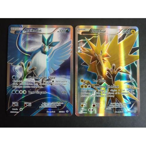 Artikodin 25 83 et electhor 29 83 full art ultra rare - Carte pokemon electhor ex ...