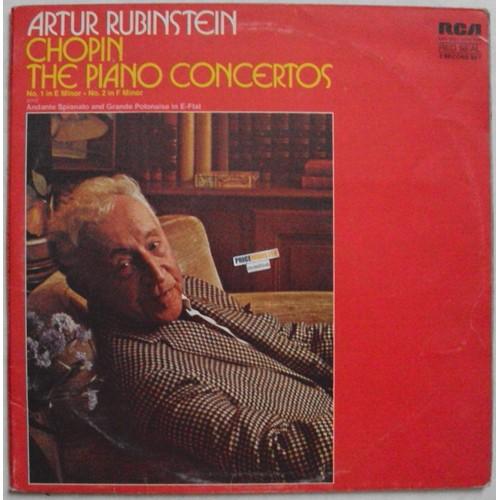 artur rubinstein   chopin   the piano concertos No  1 e in minor - No  2 in  f minor  andante spianato and grande polonaise in e-flat  2 l p