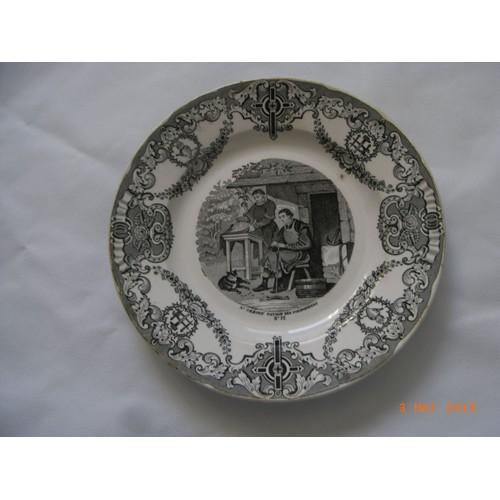 assiette porcelaine de collection n 12 1844 manufacture. Black Bedroom Furniture Sets. Home Design Ideas