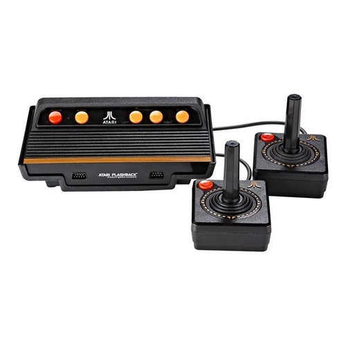 atgames atari flashback 8 105 jeux int gr s jeu tv plug and play noir. Black Bedroom Furniture Sets. Home Design Ideas