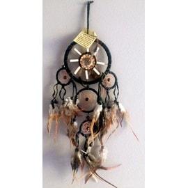 attrape r ve am rindien apache country dreamcatcher en plumes cuir et os. Black Bedroom Furniture Sets. Home Design Ideas