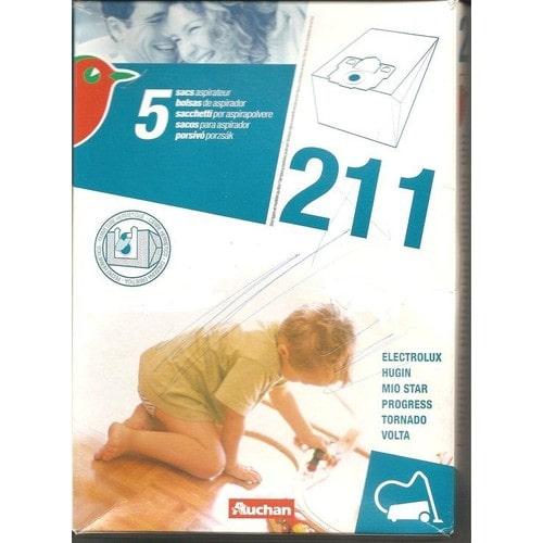auchan 211 sac aspirateur pas cher achat vente. Black Bedroom Furniture Sets. Home Design Ideas