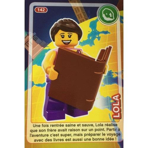 Carte Lego Auchan Livre.Auchan Carte Lego N 142 Lola Cree Ton Monde Annee 2018 Rakuten