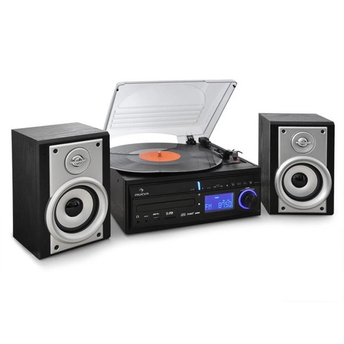 auna ds 2 cha ne stereo platine vinyle enregistrement mp3 pas cher. Black Bedroom Furniture Sets. Home Design Ideas