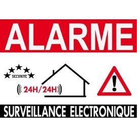Autocollant alarme sticker surveillance electronique for Alarme de securite pour maison