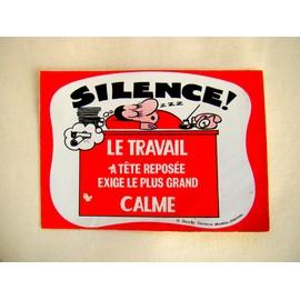 Autocollant carte postale humour silence le - Code avantage aroma zone frais de port ...