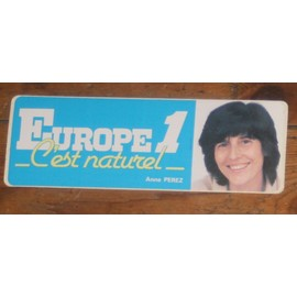 Autocollant Collector Ann�es 80 Radio Europe 1 : Anne Perez
