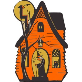 Autocollant Sticker Fete Deco Halloween Macbook Voiture Maison