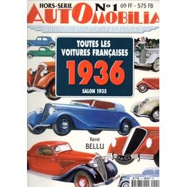 automobilia hors s rie 1 salon 1935 toutes les voitures. Black Bedroom Furniture Sets. Home Design Ideas