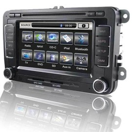 autoradio multimedia 2 din pour vw golf passat seat leon ii ecran 7 gps dvd divx usb. Black Bedroom Furniture Sets. Home Design Ideas