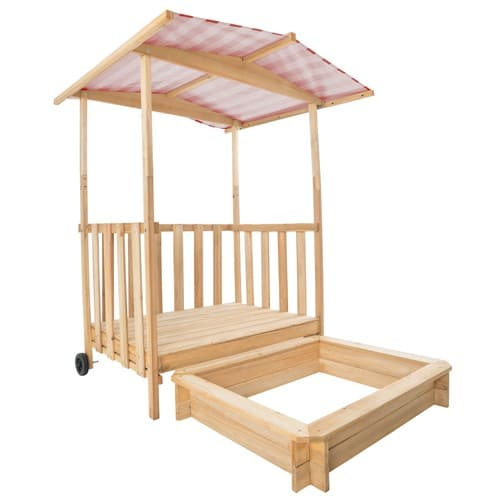 bac sable cabane de jardin enfant avec toit et v randa. Black Bedroom Furniture Sets. Home Design Ideas