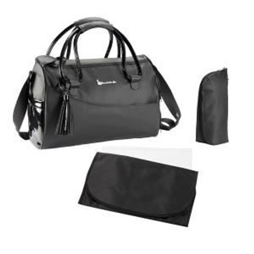 badabulle sac a langer glossy el gant noir b043011 pas cher rakuten. Black Bedroom Furniture Sets. Home Design Ideas