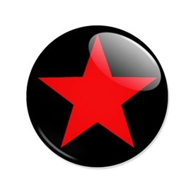 Badge Etoile Rouge Red Star Punk Rock Pop Goth Metal Mods Retro Pins �25mm