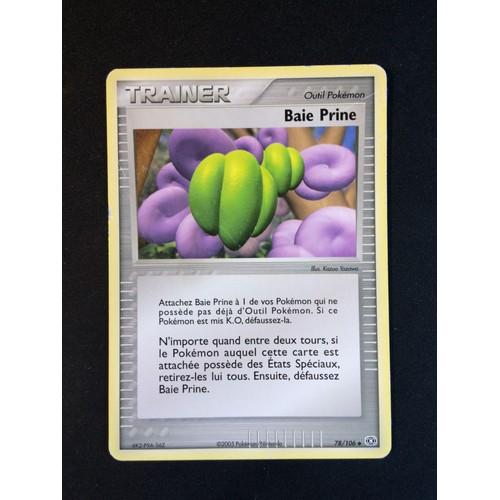 POKEMON EX EMERAUDE N°  78//106 BAIE PRINE