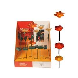 Balise A Led Fleur Artificielle Solaire Pour La Decoration De Jardin