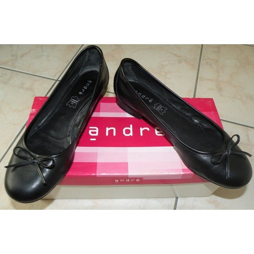 7869e58aac383 Ballerines noires cuir André T36 TBE femme