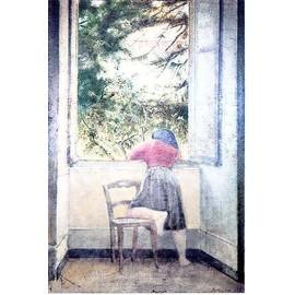 Balthus jeune fille a la fenetre 1955 achat et vente for Fille a la fenetre