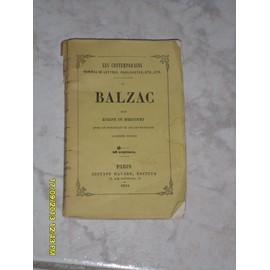 Balzac de DE MIRECOURT EUG�NE